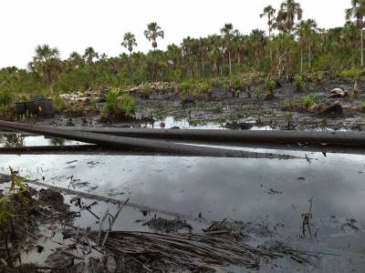 Oil pipes within Pacaya Samira