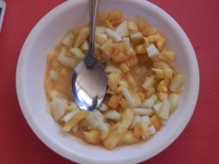 ensalada de mango y pepino