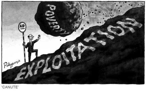 cartoon on aid